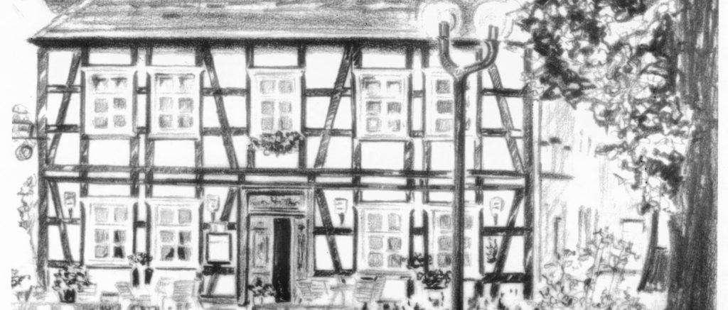 Alte Post Zeichnung